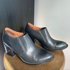 Jeffrey Campbell black leather Memphis ankle boots